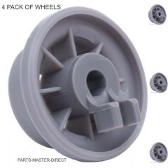 FITS BOSCH HOTPOINT DISHWASHER LOWER BASKET WHEEL 165314 C00290453 4 PACK